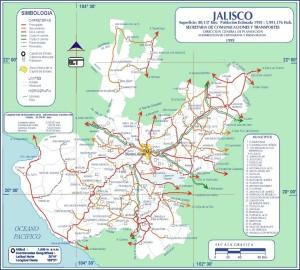 Mapa de Jalisco.