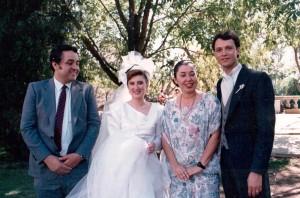 En la boda de Lalo Corona.