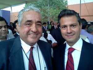 Con Peña Nieto. Foto, Arturo Durán.