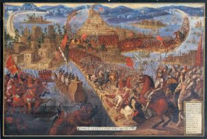 La caída de Tenochtitlan (Wikipedia).