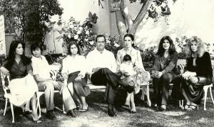 Flavio Romero y familia.
