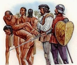 Españoles empiezan a esclavizar