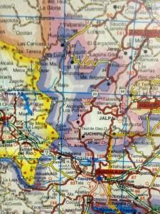 Mapa Zona Norte. De p. Cesar Cosío en F.